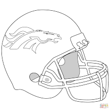 denver broncos logo coloring page free printable coloring pages