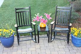 dixie seating 3 piece slat seat porch rocking chair and