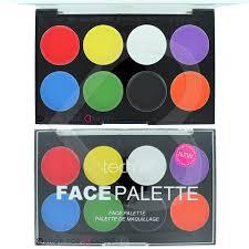 technic face body paint palette set kit halloween makeup painting
