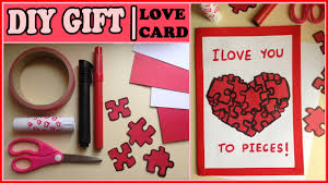 Homemade Valentines Gifts For Him by Diy Gift For Him Or Her Puzzles Love Card Youtube