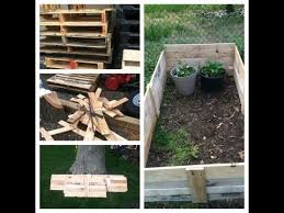 how to make a free raised garden bed with pallets youtube for