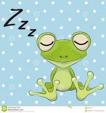 sleeping frog clipart clipartxtras