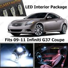 amazon com classy autos infiniti g37 white interior led package