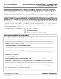 hipaa compliant authorization release medical information