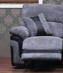 Grey Recliner Sofa Fabric 1 Seater Recliner Sofa Grey