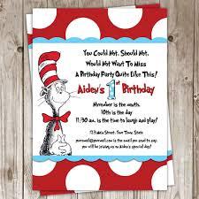 dr seuss 1st birthday dr seuss birthday invitations birthday party invitations