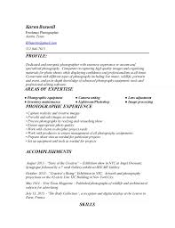 Resume For Photography Job by Photographer Cover Letter Sample Cover Letter For Photography
