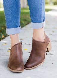 s qupid boots cognac distressed ankle heel booties qupid shoes tobin 95x