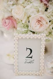 wedding table number ideas 35 vintage wedding ideas with pearl details tulle chantilly