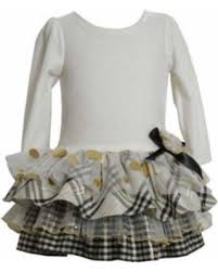 deal on dresses ivory plaid tiered dress 3t