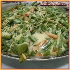 cuisine haricot vert recette land recette de haricot vert lardon a la bechamel sur la