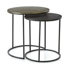 round metal side table black metal nesting round side tables metal design inc moradabad