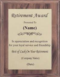 retirement plaque retirement plaques offered by awards2you awards2you