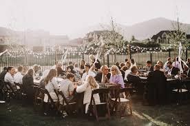 french bohemian backyard wedding gabby patrick receptions