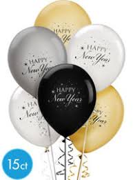 happy new year balloon black gold silver new years balloons party city