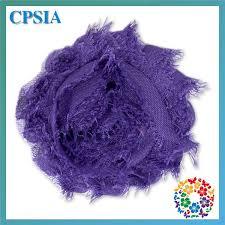 frayed chiffon rose trim purple shabby chic decorative handmade