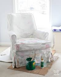 Slipcovers For Upholstered Chairs How To Paint Upholstered Furniture In My Own Style