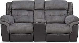 tacoma dual power reclining loveseat with console black value