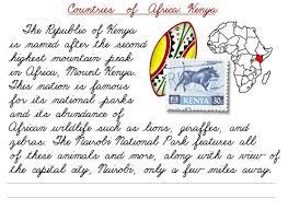 countries of africa cursive practice u2013 printable cursive u0026 manuscript