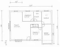 plan maison plain pied 3 chambre plan maison 90m2 plain pied