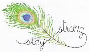 stay strong peacock feather tattoo design by altaiira on deviantart
