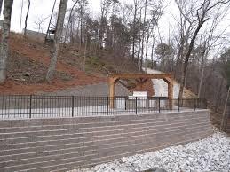 hinton u2013 lakeside retaining wall fence quality creative
