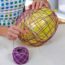 Giant Easter Eggs Decorations by Easter Craft Yarn Egg Garland Easter Crafts Favorite Color And