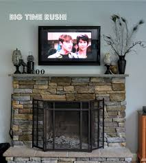 Fireplace Mantels For Tv by Remarkable Fireplace Mantel Ideas With Tv Above Pics Inspiration