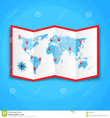 World Map On Wood Planks by Paper World Map With Location Icons Map Icon Vector Map Vector