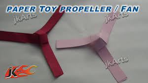 diy how to make paper toy fan propeller easy craft for kids