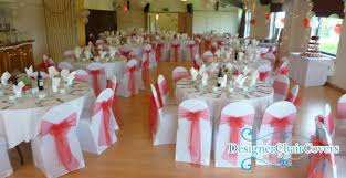 Wedding Chair Covers And Sashes Red Wedding In Park Langley In Bromley Kent Designer Chair