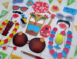 hawaiian luau party pdf hawaiian luau photo booth props printable diy