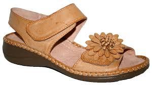 cushion walk ladies wedge heel touch close straps summer sandal