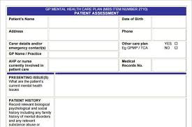 mental health care plan template to help you be a better care giver