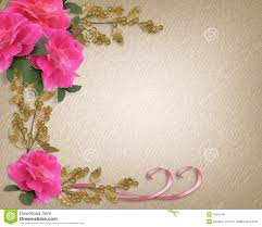 wedding invitation border pink roses royalty free stock photos