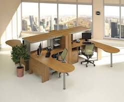 modern contemporary wooden office desk with book case cabinet