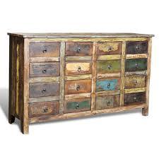 kommoden retro der kommode sideboard 16 schubladen vintage online shop vidaxl de