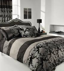 King Size Duvet Bedding Sets Apachi King Size Duvet Cover Bedding Set Silver Black Co