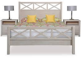 Solid Wood Bed Frame Nz Ocean Grove Slat Bed Frame U0026 Headboard Queen
