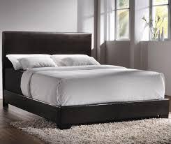 Leather Headboard Platform Bed Bedroom Black Leather Upholstered Platform Bed With White Bedding