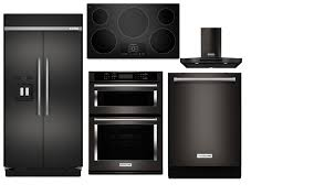 stainless kitchen appliance packages kitchenaid complete kitchen package built in black stainless steel