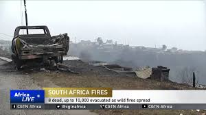 Fire Evacuations Nz by South Africa Fires 8 Dead Up To 10 000 Evacuated As Wild Fires