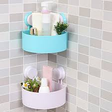 Bathroom Storage Racks Sucker Corner Triangle Shelf Bathroom Kitchen Storage Rack Free