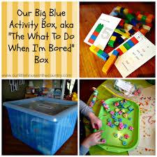 our big blue activity box aka u201cthe what to do when i u0027m bored box