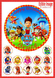 paw patrol u2013 edible image products