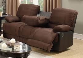 Two Tone Reclining Sofa Steven Microfiber Recliner Sofa