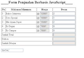 membuat form input menggunakan html membuat form penjualan dengan html dengan java script trozzan s blog