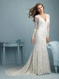allure bridals 9213 lace deep v neck wedding dress