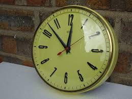 kitchen wall clocks modern mid century kitchen wall clock