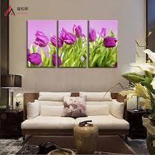 modulare k che 5 panel leinwand drucken wohnkultur lila tulip gemälde druck für